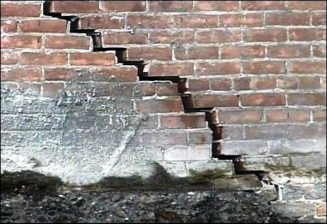 Monitoraggio fessure e crepe nelle murature for Disegni di blocchi di cemento casa